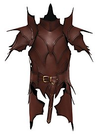 Leather Armour with Tassets - Dark Elf brown
