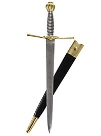 Parry dagger with brass pommel & parry with ring - B-Ware