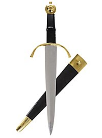 Parry dagger with pommel and parry made of brass - B-Ware