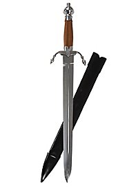 Parry dagger with wooden handle - B-Ware