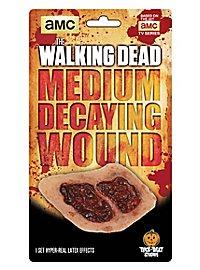 Prothèse en latex petite blessure en décomposition The Walking Dead