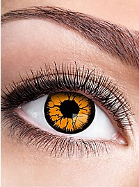 Pumpkin contact lens with diopters