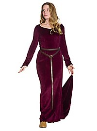 Robe en velours bordeaux