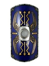 Römischer Schild Scutum Deluxe blau Polsterwaffe