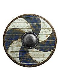 Rundschild - Blau/Weiß (70cm)