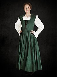 Rustikales ärmelloses Kleid grün-violett
