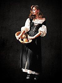 Rustikales ärmelloses Kleid schwarz-rot