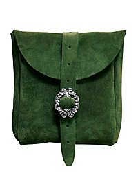 Sacoche de ceinture en daim vert
