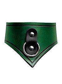 Lederhalsband - Sklave grün