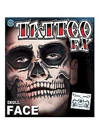 Skull Temporary Face Tattoo