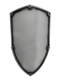 Soldatenschild silber Polsterwaffe