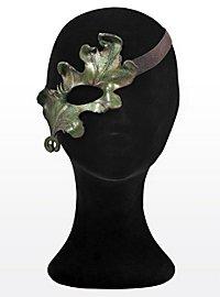Sommernachts-Elfe Eichenlaub Halbseitige Augenmaske aus Leder