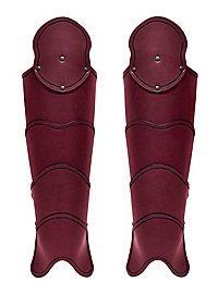 Beinschienen - Späher rot