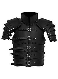 Lederrüstung mit Schultern - Späher schwarz