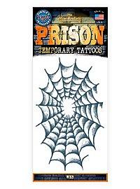 Spinnennetz Klebe-Tattoo