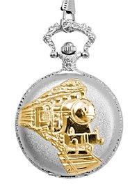 Pocket Watch Steam Engine silver