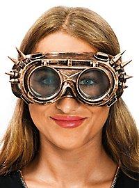 Steampunk Brille gold