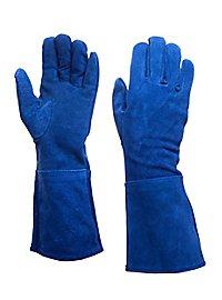 Suede Gauntlets blue