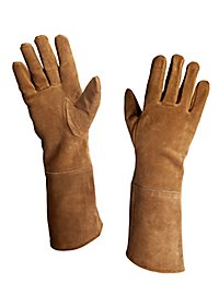 Suede Leather Gloves light brown