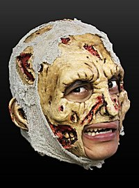 Tattered Zombie Chinless Mask Made of Latex