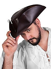 Leather tricorn hat - Hawkins