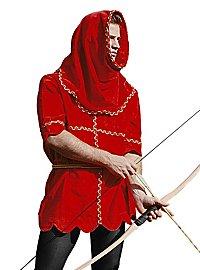 Tunique en velours avec capuche