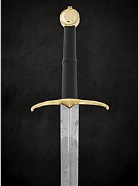 Two-handed sword with brass guard and pommel - B-Ware