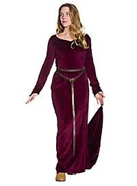 Medieval velvet dress - Antonia, wine red
