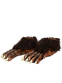 Wolf Feet made of latex