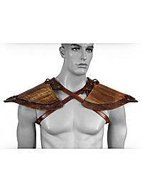 Wood Elf Leather Shoulder Guards