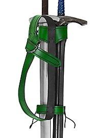 Rückenschwerthalter - Abenteurer zweifach grün
