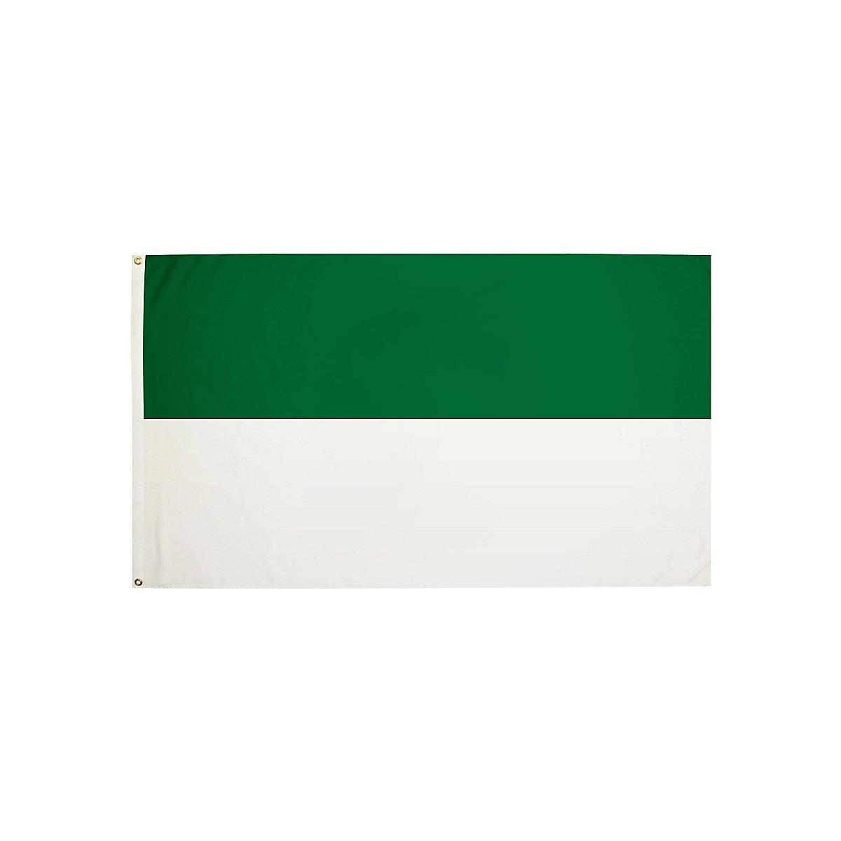 Weiß Grüne Flagge