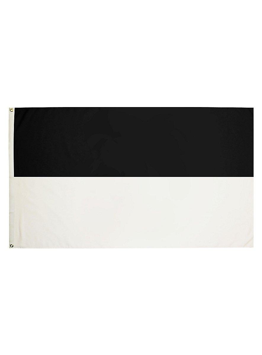 Schwarz Weiß Schwarz Flagge