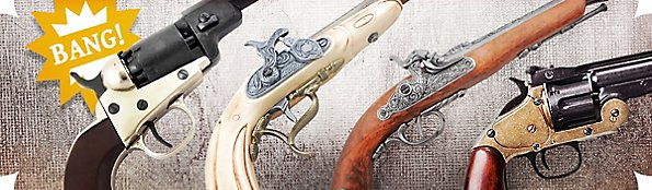 Replica Pistols for pirates & cowboys