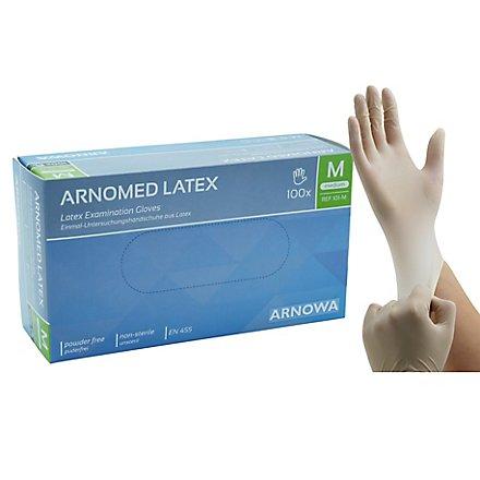 Arnomed Latexhandschuhe weiß - 100 Stück