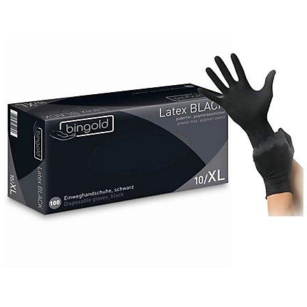 BINGOLD Latex BLACK Latexhandschuhe - schwarz - 100 Stück