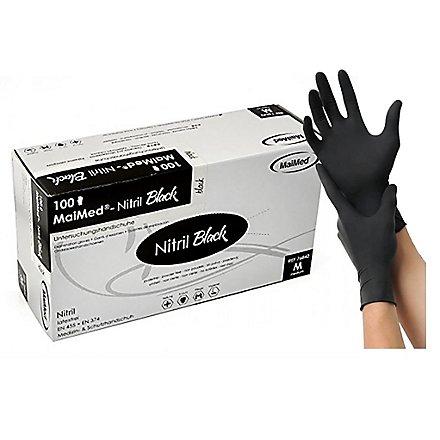 MaiMed® Nitril Black Einmalhandschuhe - schwarz - 100 Stück