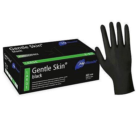 Meditrade Gentle Skin® Black Latex Untersuchungshandschuhe - 100 Stück