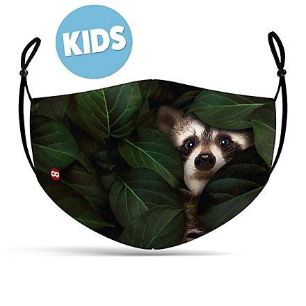 Stoffmaske für Kinder Waschbär