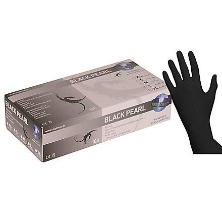 Unigloves Black Pearl Nitril-Handschuhe - schwarz - 100 Stück