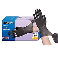 Hygostar® Diablo Latex Einweghandschuhe - schwarz - 100 Stück