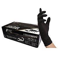 Nitras Black Scorpion Latex Einmalhandschuhe - schwarz - 100 Stück