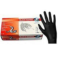Unigloves Black Mamba Latexhandschuhe - schwarz - 100 Stück