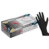 Unigloves Select Black Latexhandschuhe - schwarz - 100 Stück
