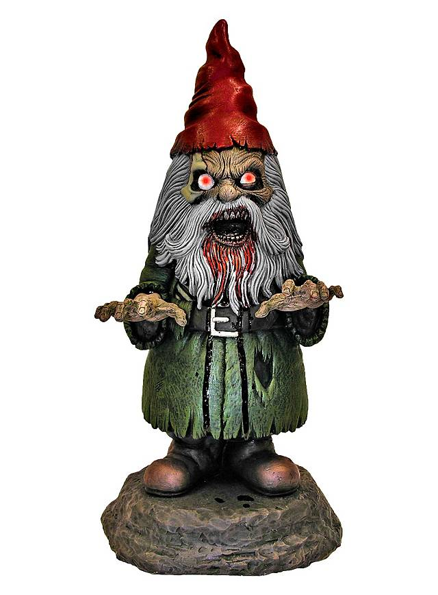 Zombie garden gnome animated halloween decoration for Animated halloween decoration