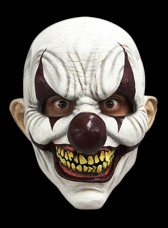 diabolischer clown maske halloween latexmaske online kaufen. Black Bedroom Furniture Sets. Home Design Ideas
