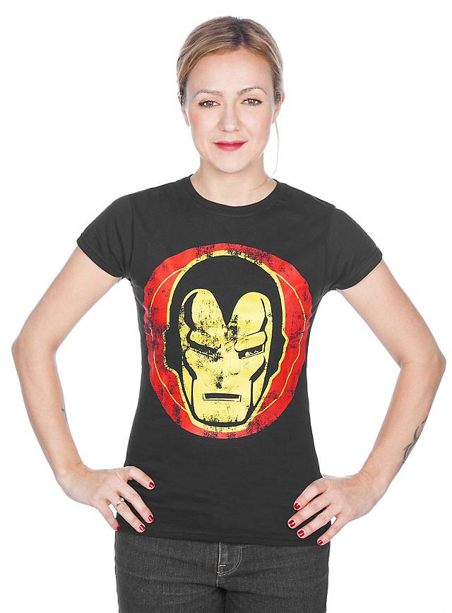 iron man girlie shirt superhelden shirt jetzt kaufen. Black Bedroom Furniture Sets. Home Design Ideas