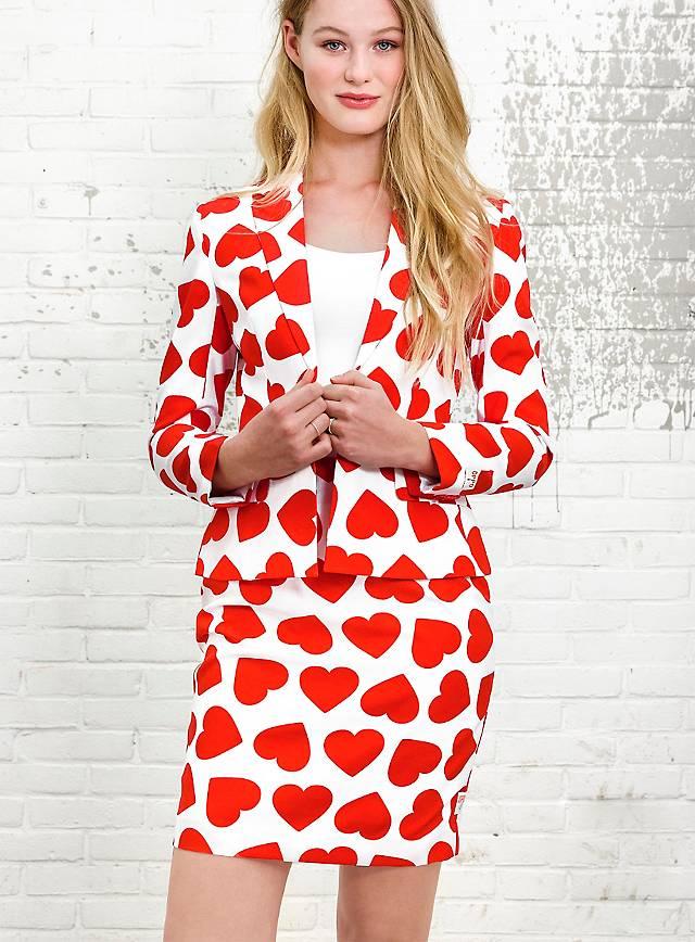 OppoSuits Queen of Hearts Damen Anzug