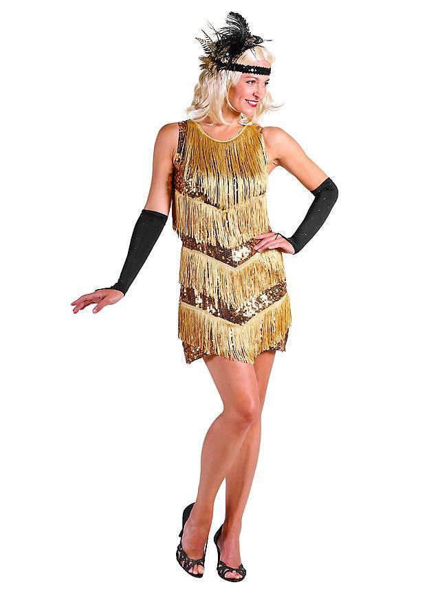 20er Jahre Charleston Kleid gold