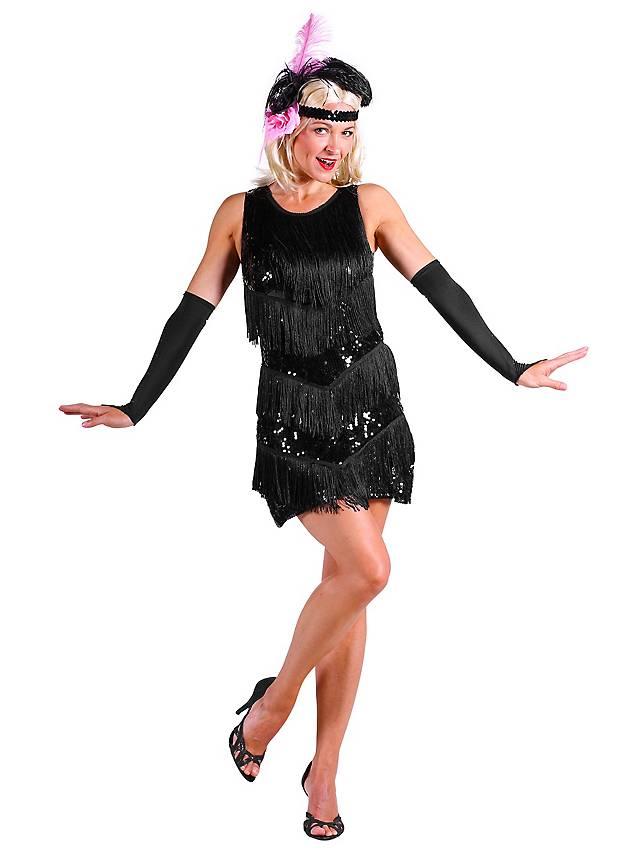 20er Jahre Charleston Kleid schwarz